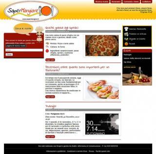 uno screenshot del sito nella versione precedente